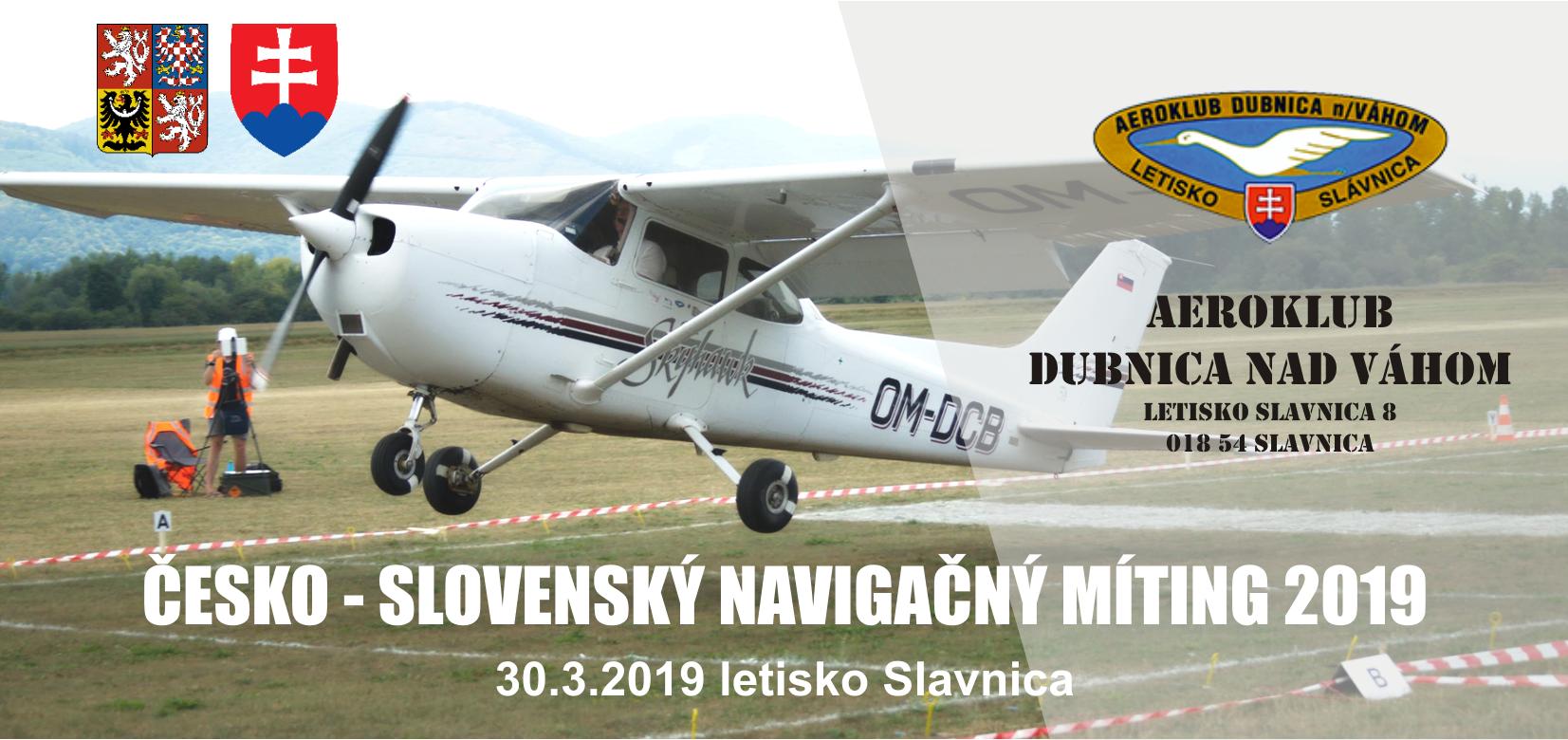 LETECKÁ NAVIGAČNÁ SÚŤAŽ ANR (AIR NAVIGATION RACE) Slavnica 09.08. – 11.08.2019